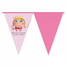 Party banner flag Princess by Isabelle Kessedjian