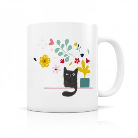 Ceramic mug black cat