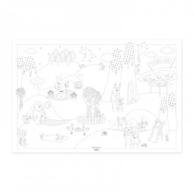 "Poster to colour in ""Wonderful World"" by Label'tour créations"