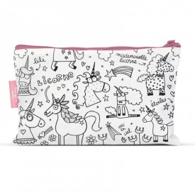 pencil cases to colour Unicorn by Marielle Bazard