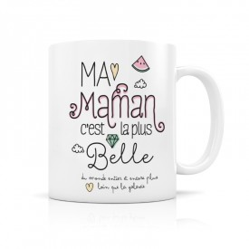 Ceramic mug: Ma maman c'est la plus belle by Créa bisontine