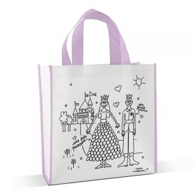 Shopping bag to colour Princess