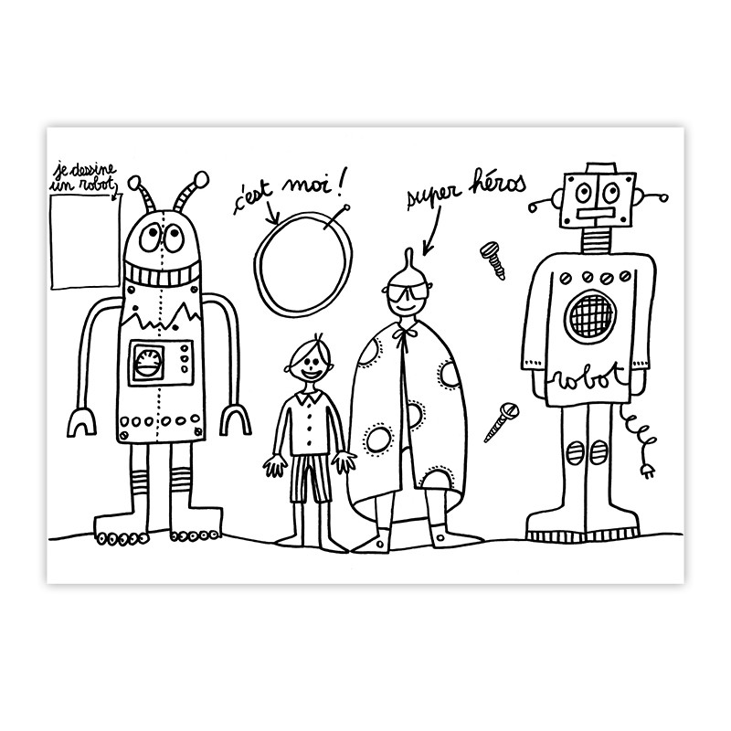 Placemat Robots by Marielle Bazard