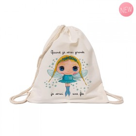 Cotton backpack : When I grow up, I will be a fairy