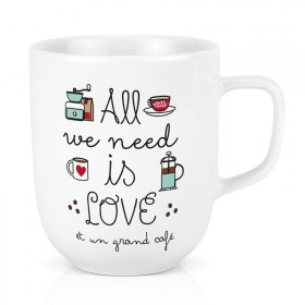 Large porcelain mug: All we need is love