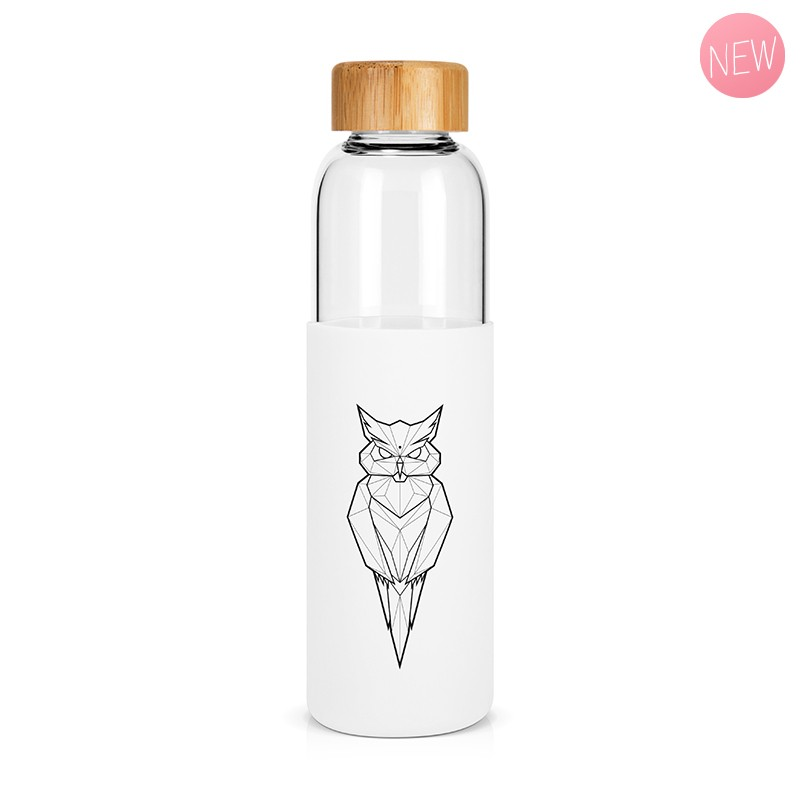 """Owl"" glass bottle by Label'tour créations"