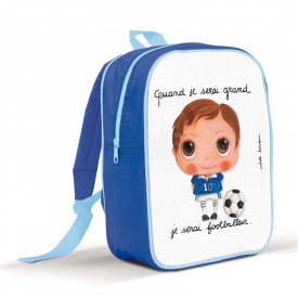 Backpack large Soccer by Isabelle Kessedjian