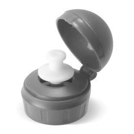 Grey flask plug by Isabelle Kessedjian