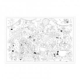 "Poster to colour in ""Birthday"" by Label'tour créations"