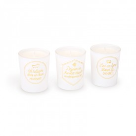 "Set of 3 scented candles ""Moments for oneself"" by Créa bisontine"