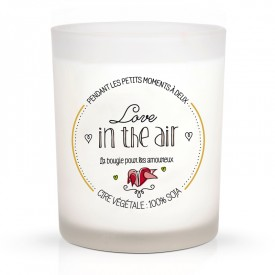 "Scented candle ""La pause romantique"" by Créa bisontine"