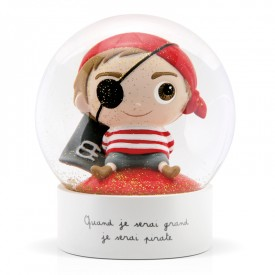 Snow globe Pirate by Isabelle Kessedjian