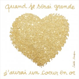 Canvas for child Coeur en or by Isabelle Kessedjian