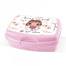 Lunch box Nature friendly girl by Isabelle Kessedjian