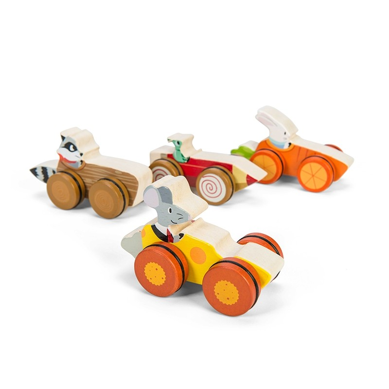 Woodland Race (Set of 8 in CDU) by Le toy van