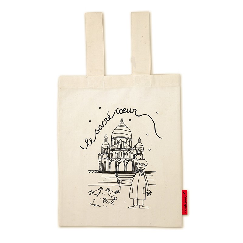 "Bag ""Le sacré cœur"" to colour by Marielle Bazard"
