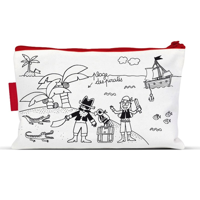 pencil cases to colour by Marielle Bazard