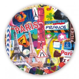 "Badge ""Cocorico"" by Marie-Pierre Denizot"