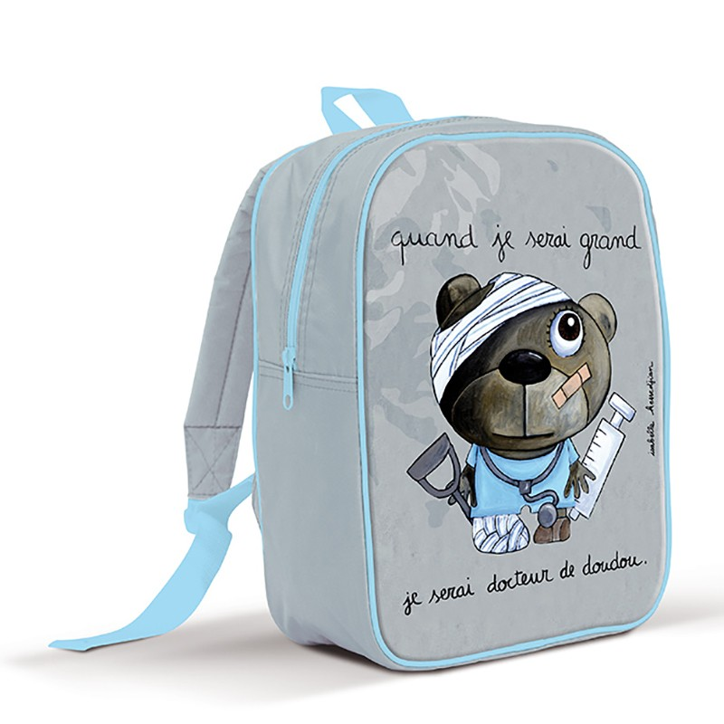 Backpack large Teddy bear doctor by Isabelle Kessedjian