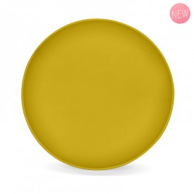 Mimosa yellow vegetable flat plate by Label'tour créations