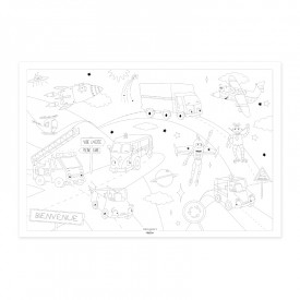 "Poster to colour in ""Space travel"" by Label'tour créations"
