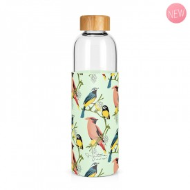 """Birds"" large glass bottle by Label'tour créations"