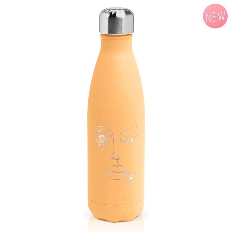 "Insulated bottle ""butterfly woman"" by Créa bisontine"