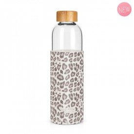 """Leopard"" large glass bottle by Label'tour créations"