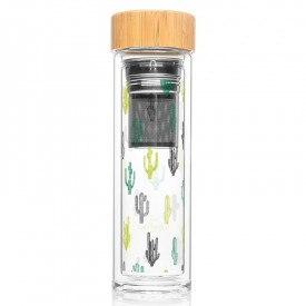 "Infuser bottle ""Cactus"" by Label'tour créations"