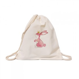 Pastel rabbit cotton bag