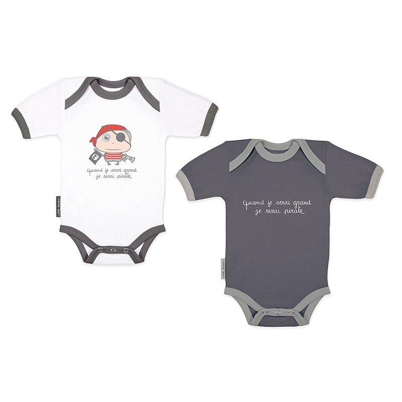 Bodysuits set Pirate (short sleeves) by Isabelle Kessedjian