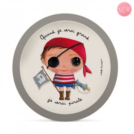 Bamboo plate Pirate by Isabelle Kessedjian