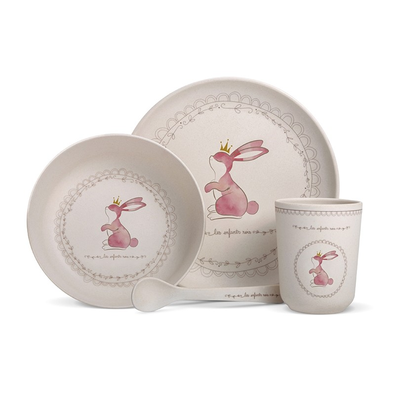 Complete bamboo fibre dinner set for babies and children. by Les enfants rois