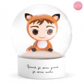 Snow globe Fox by Isabelle Kessedjian