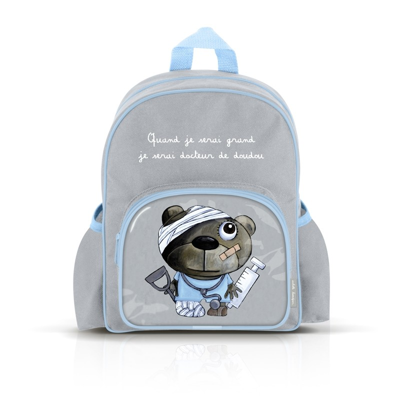 Small backpack with pockets: Quand je serai grand,je serai docteur de doudou by Isabelle Kessedjian