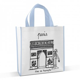 Shopping bag to colour Arc de triomphe by Marielle Bazard