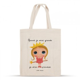 Cotton bag: When I grow up, I will be a princess