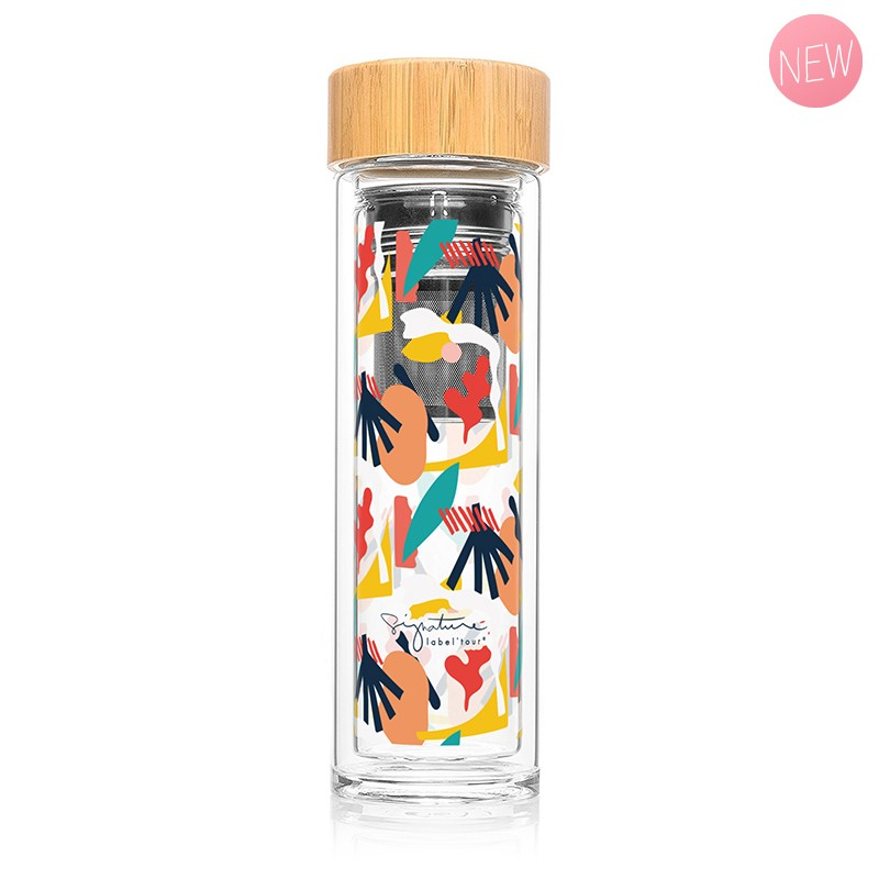 """Infuser bottle """"Abstract"""" by Label'tour créations"""