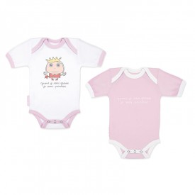 Birth Bodysuits set Princess (short sleeves) by Isabelle Kessedjian