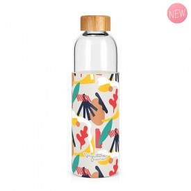 """Abstract"" large glass bottle by Label'tour créations"
