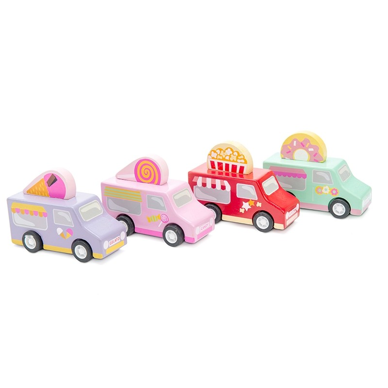 Sweets & Treats Pull Backs CDU (Set of 12 in CDU) by Le toy van
