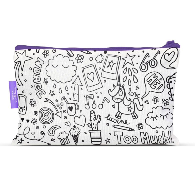 Pencil cases to colour Teens by Marielle Bazard
