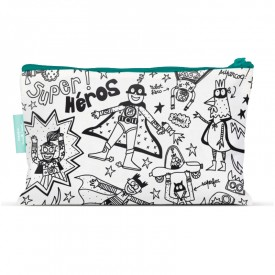Pencil cases to colour Super hero by Marielle Bazard